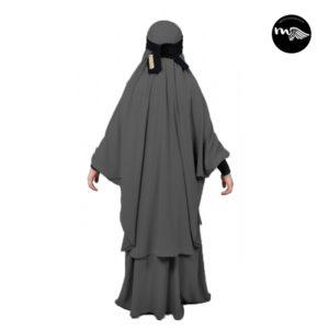 jilbab Enfant-Mouhajiroun Gris
