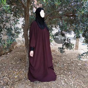 Tunique Sarah Mouhajiroun-prune