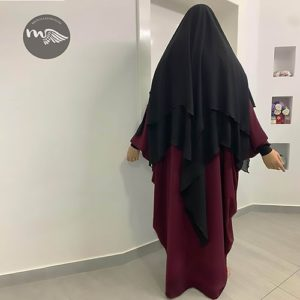 Khimar double voile Amna